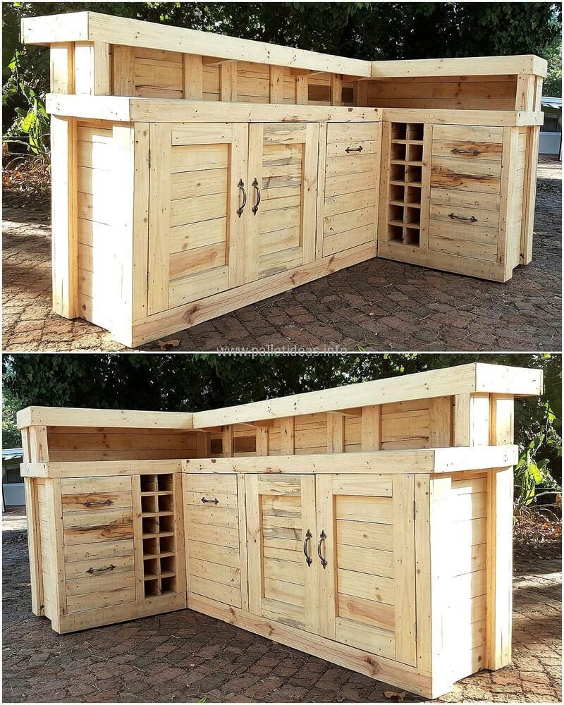 recycled wooden pallet bar plan | Outdoor dining | Pinterest ...