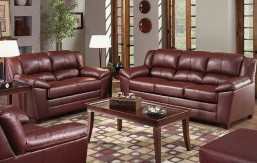 Red Couch Loveseat Set