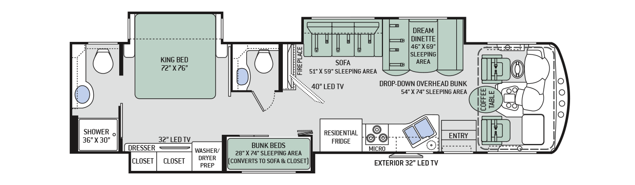 Ordinaire Explore The Floor Plans Of The Challenger Class A RV By Thor Motor Coach.