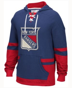 Ccm Men's New York Rangers Pullover Hoodie - Blue XXL