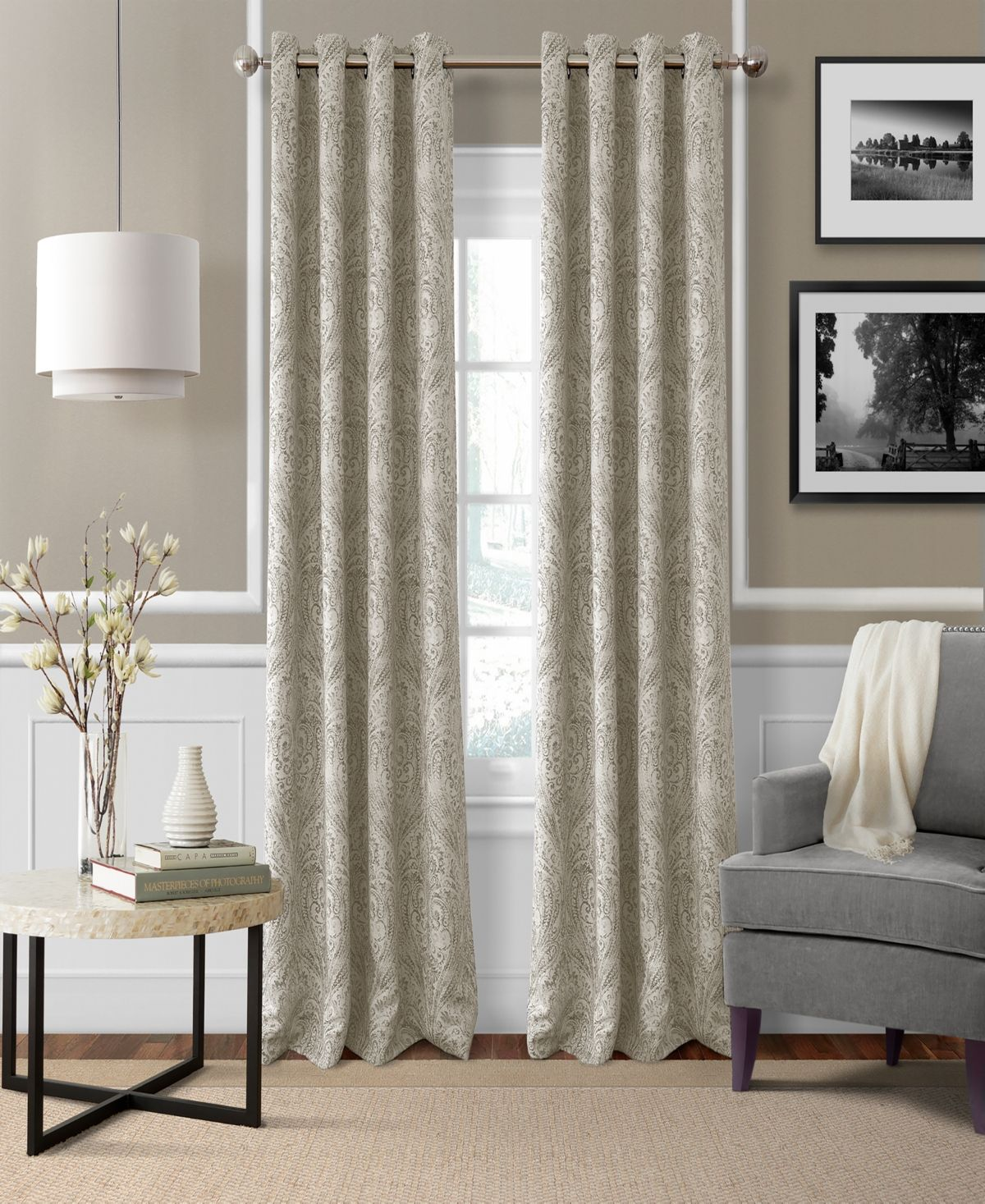 Elrene Julianne Paisley 52 X 95 Blackout Curtain Panel Reviews
