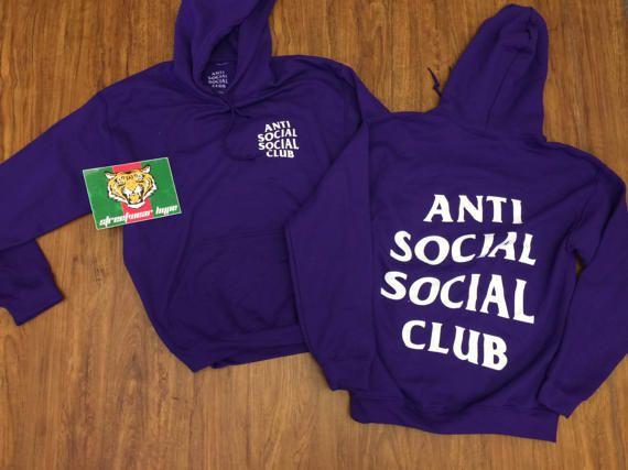 e67e7203e180 AntiSocial Social Club Hoodie in PURPLE RAIN Hoody   ASSC