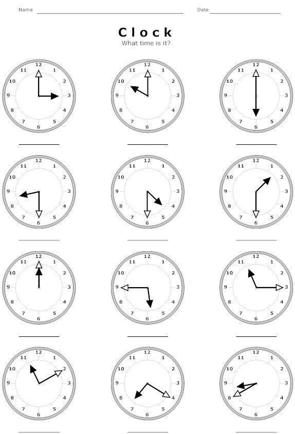 Telling Time Worksheet Worksheets Pinterest Telling