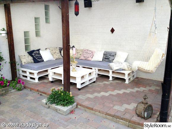 lounge,lastpallar,pallar,uteplats,uterum,trädgård,myshörna