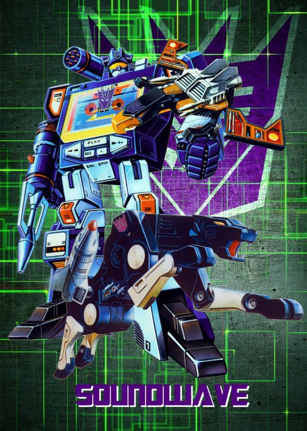 "Transformers G1 Decepticons Soundwave & Ravage #Displate artwork by artist ""Wiebes"". Part of a… 