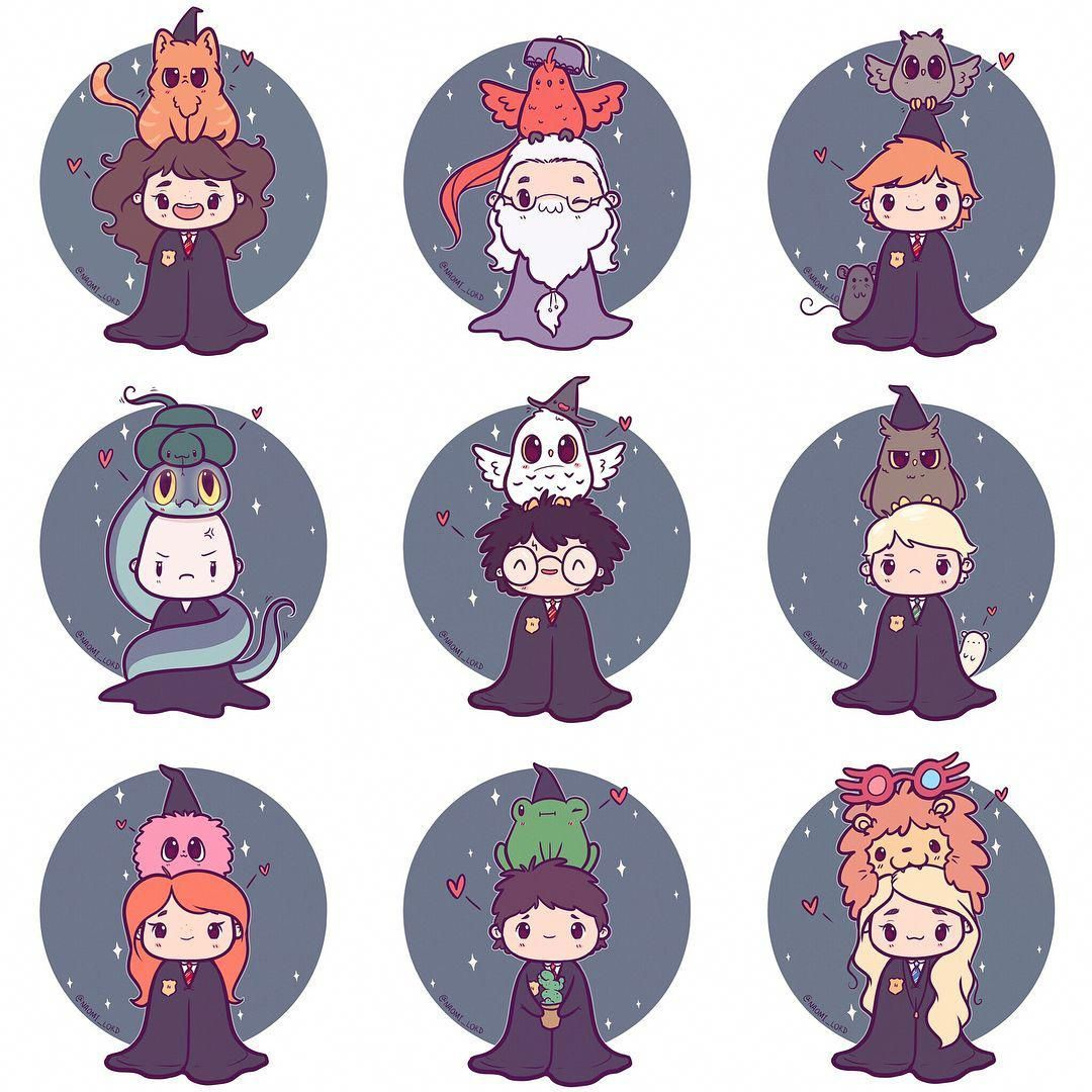 So many chibis! 😱💕✨ Ive now added all of these Harry Potter chibis to my etsy! (Link in b
