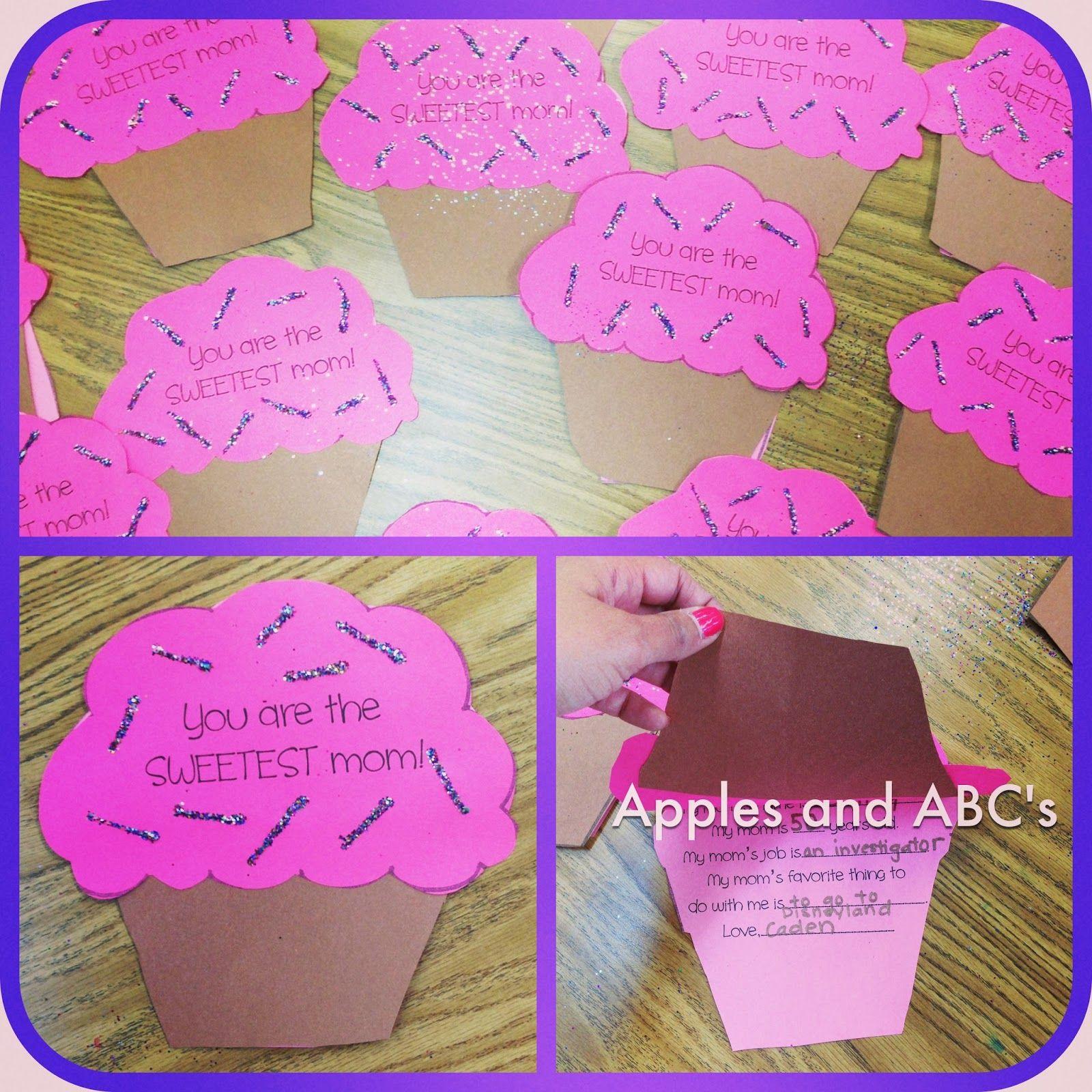 Cupcake Mother's Day Craft #eceappreciationgiftideas