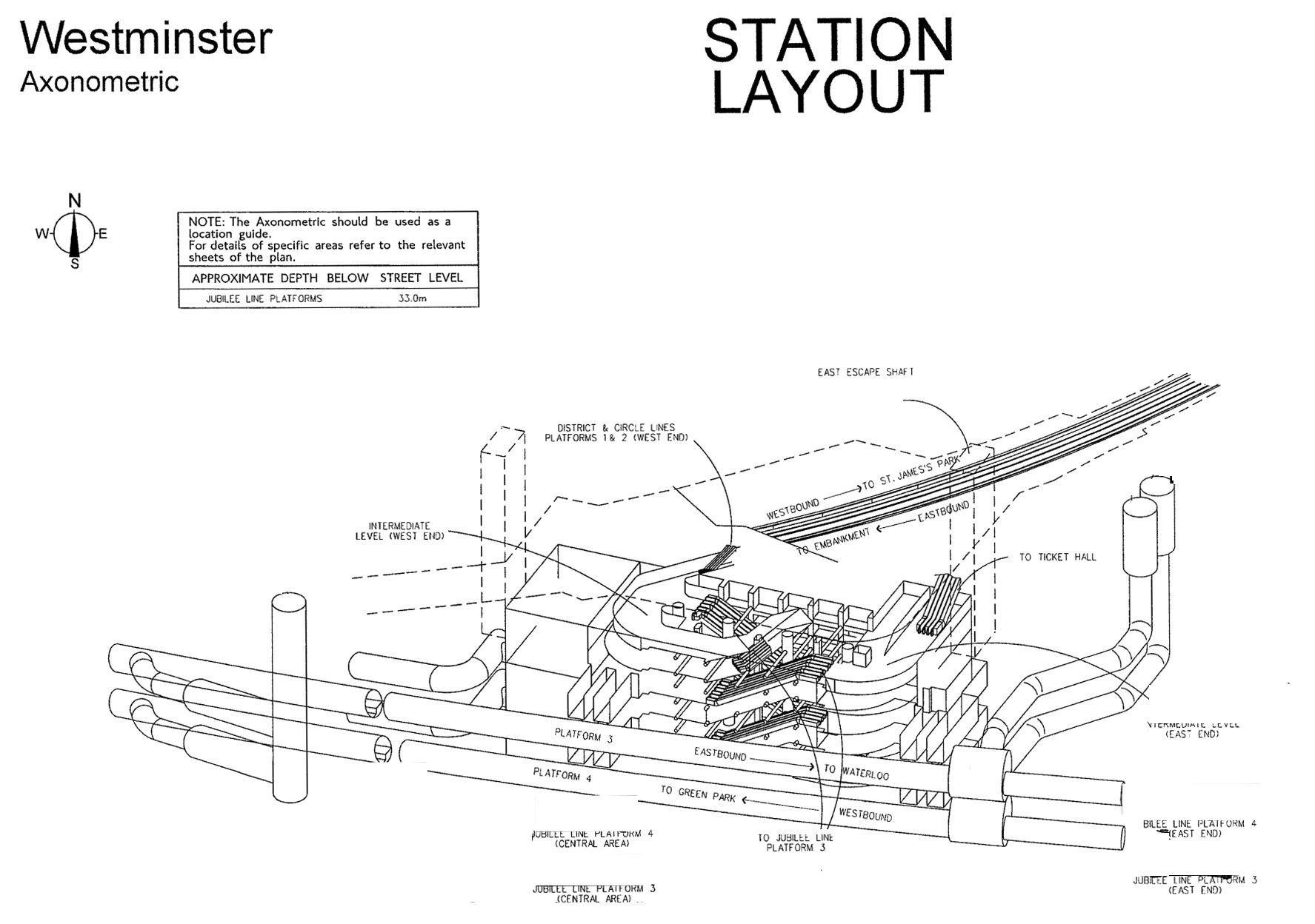 Westminster Tube Station 3D maps of every Underground station