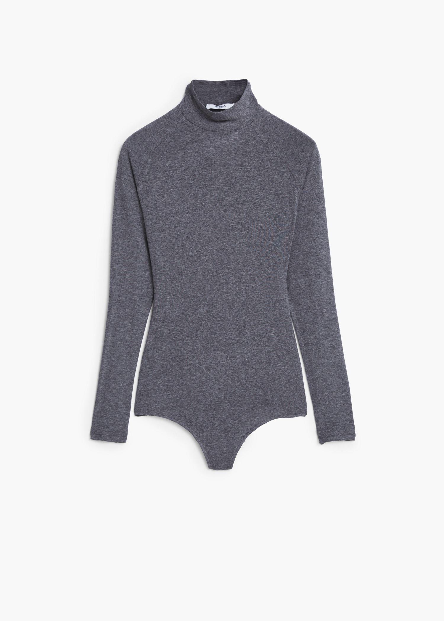 Body col montant - T-shirts pour Femme | MANGO