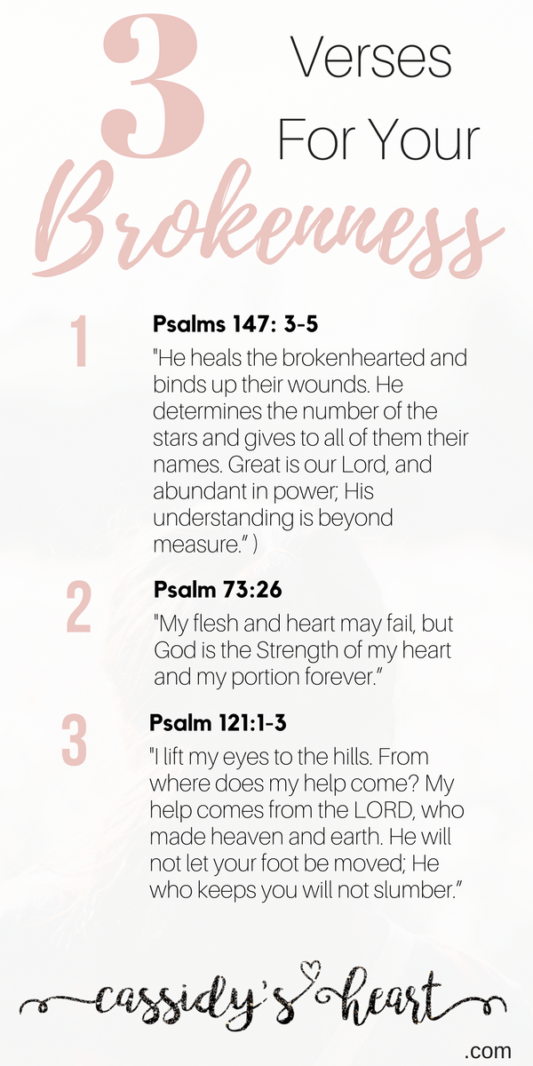 Christian Brokenness Quotes Quotesgram: 3 Verses For Your Brokenness