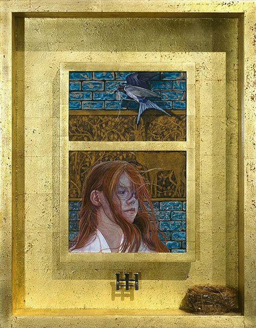 After the Rain (framed original) by Merglenn Studios Soft Pastel ~  x