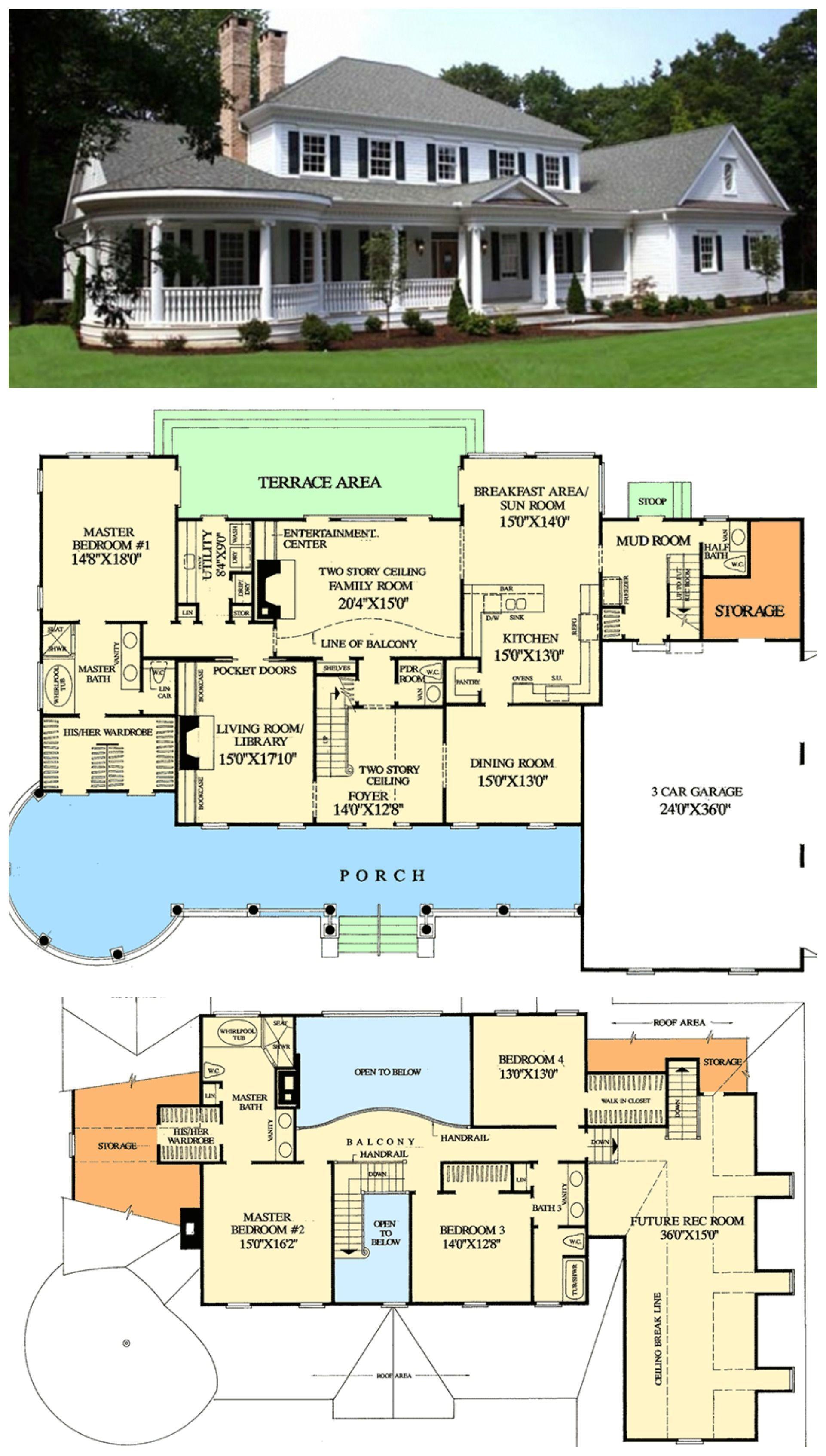 Mab Farmhouse Floor Plans House Blueprints Dream House Plans