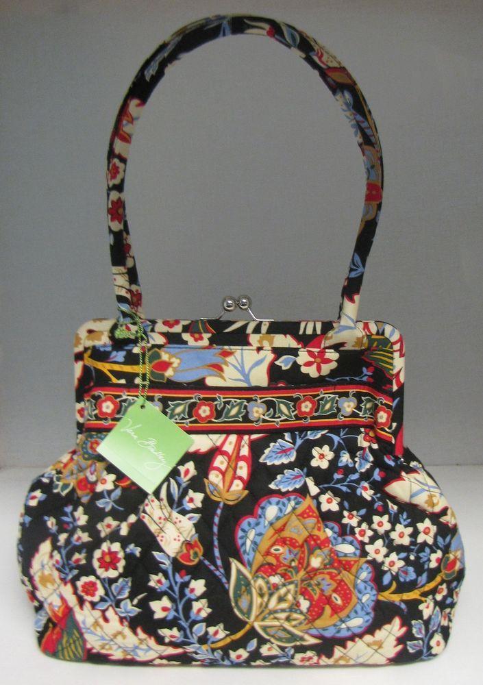 Vera Bradley Alice Purse Versailles Handbag Kiss Lock Shoulder Bag   VeraBradley  ShoulderBag  Retired f7aada44c9053