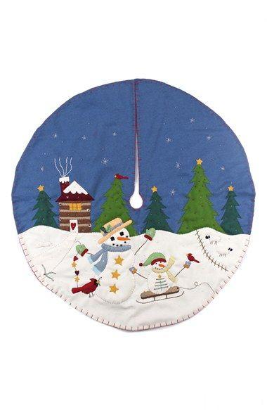 25+ Blue christmas tree skirt ideas info