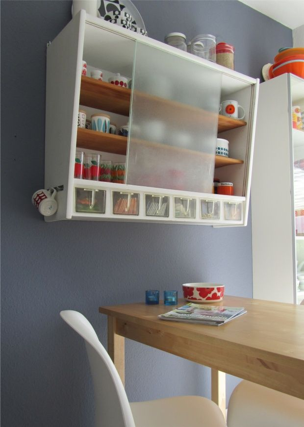 Mid Century kitchen shelf/Good to replace the current shelving LOVE