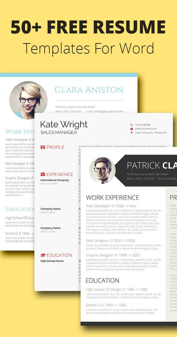 55+ Free Resume Templates for MS Word Free resume, Cv template - free resume critique