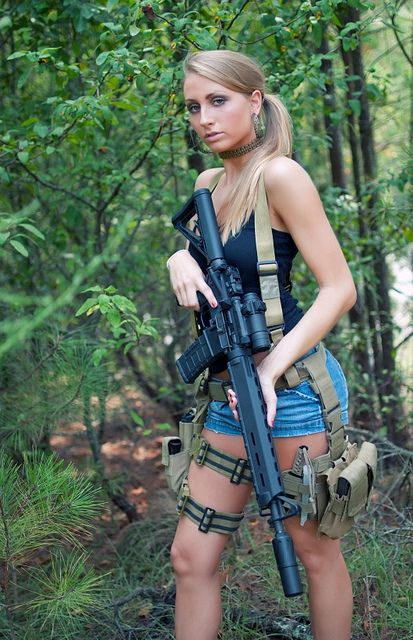 Curvy naked women with guns 10