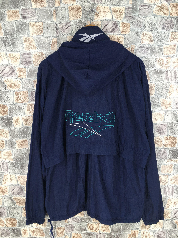 Vintage Reebok Windbreaker Jacket Huge