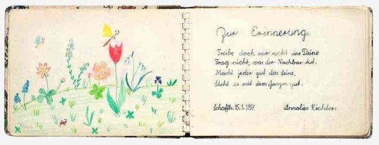 Poesiealbum 50er Met Afbeeldingen Album Kaarten Verjaardag