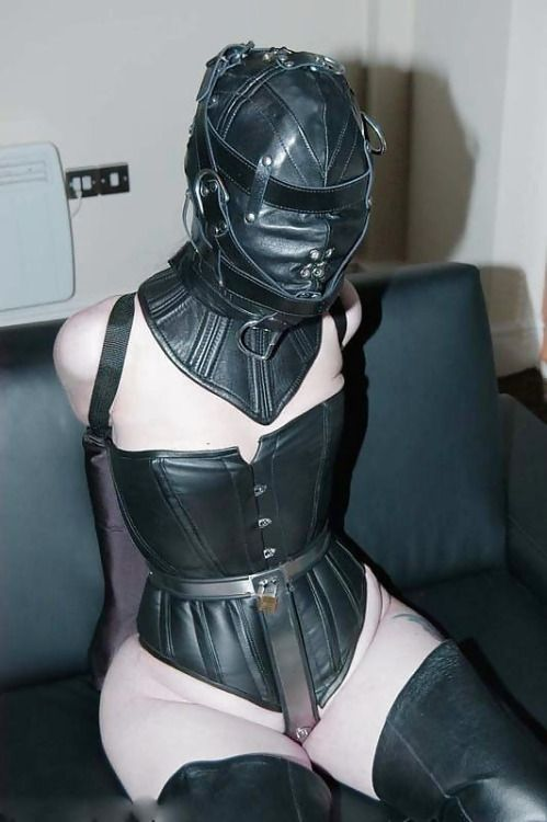 Corset + Armbinder + Chastity Belt (hopefully With Two Plugs) + Helmet And  Neck Corset. Beautiful And Ready For The Party!