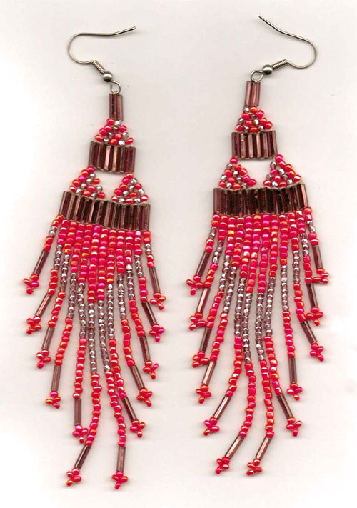 "First People :: ""It Takes A Village"" Seed Bead Earrings"