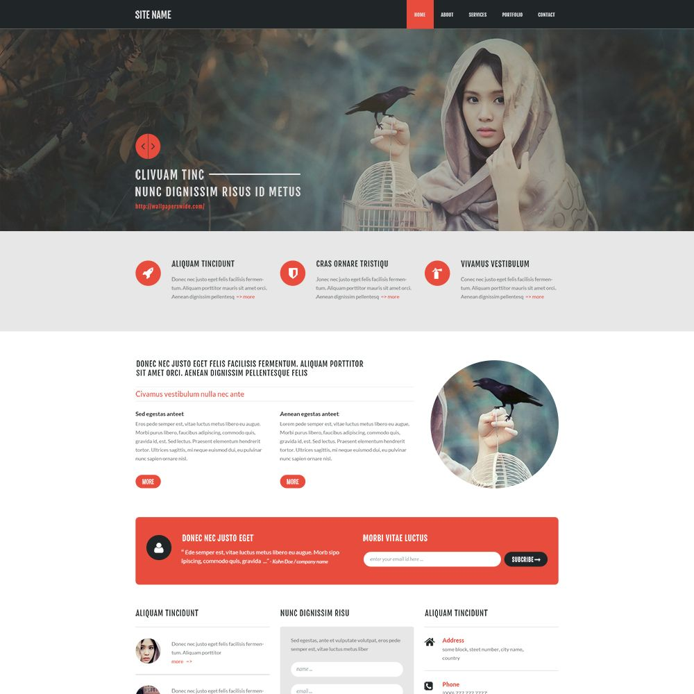 Bootstrap 3D PSD Template | Web Pages - GrfxPro | Pinterest | Psd ...