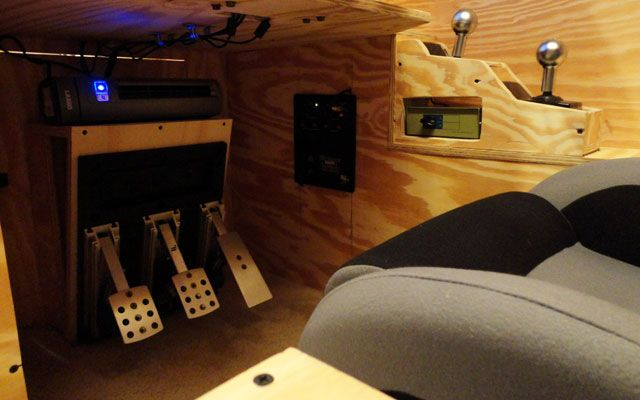 The Insane Diy Video Game Racing Cockpit Game Room Ideas