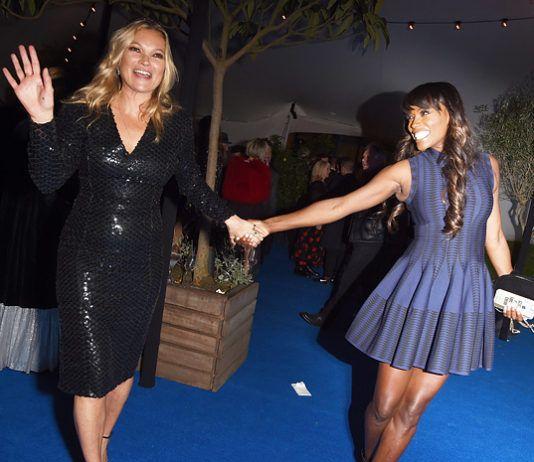 кейт мосс с женихом николаем фон бисмарком алисия викандер и другие гости вечера British Vogue алисия викандер кейт мосс женихи