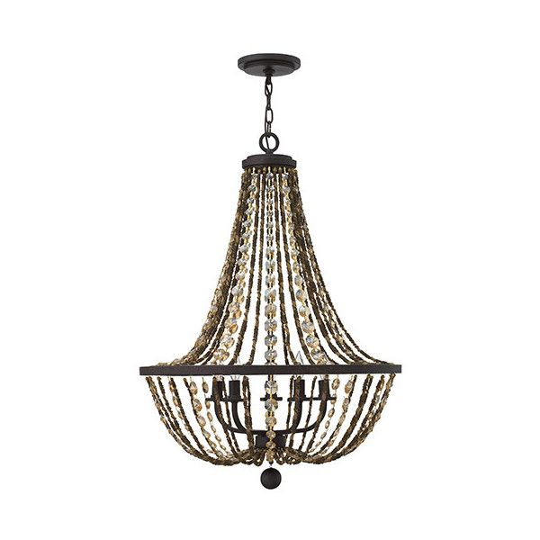 Fredrick Ramond Hamlet Vintage Bronze Five Light Chandelier ($879) ❤ liked on Polyvore featuring home, lighting, ceiling lights, hanging chain lamp, bronze chandelier, bronze light, mounted lights and chain lamp