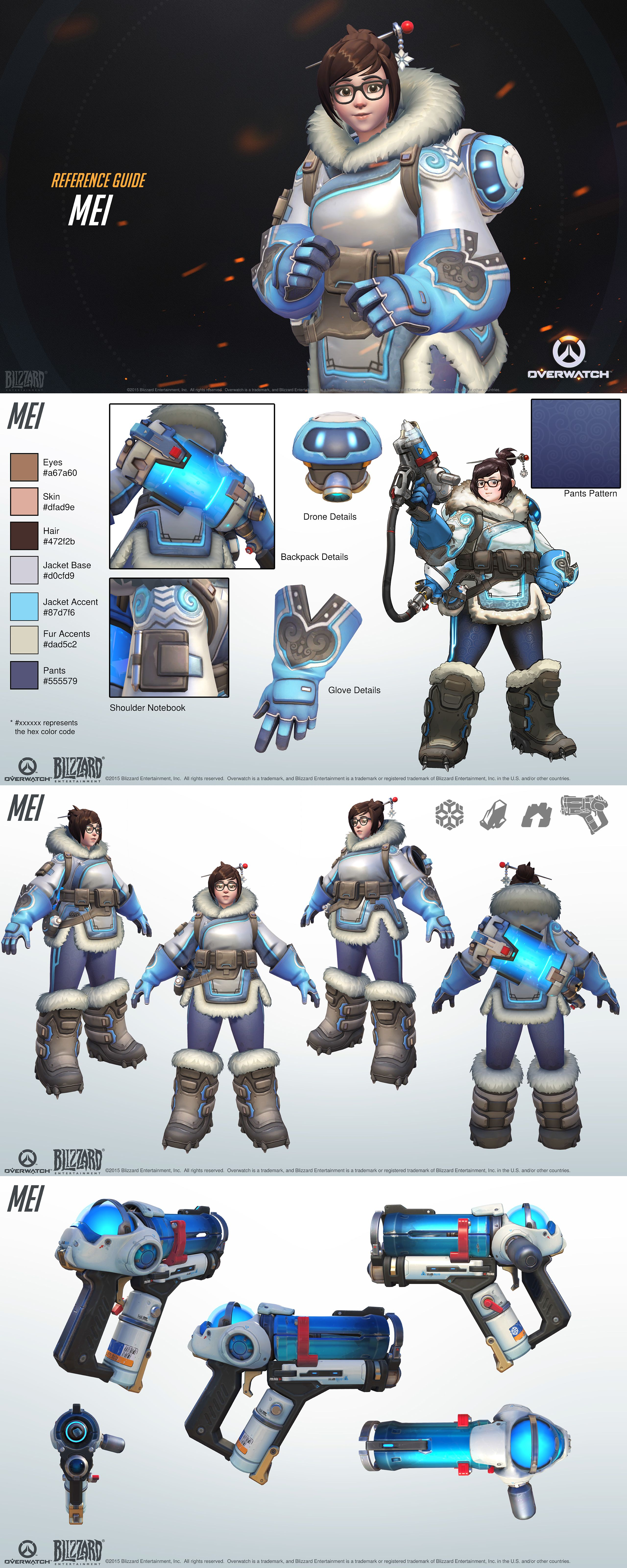 Character Design Overwatch : Overwatch mei reference guide characters pinterest