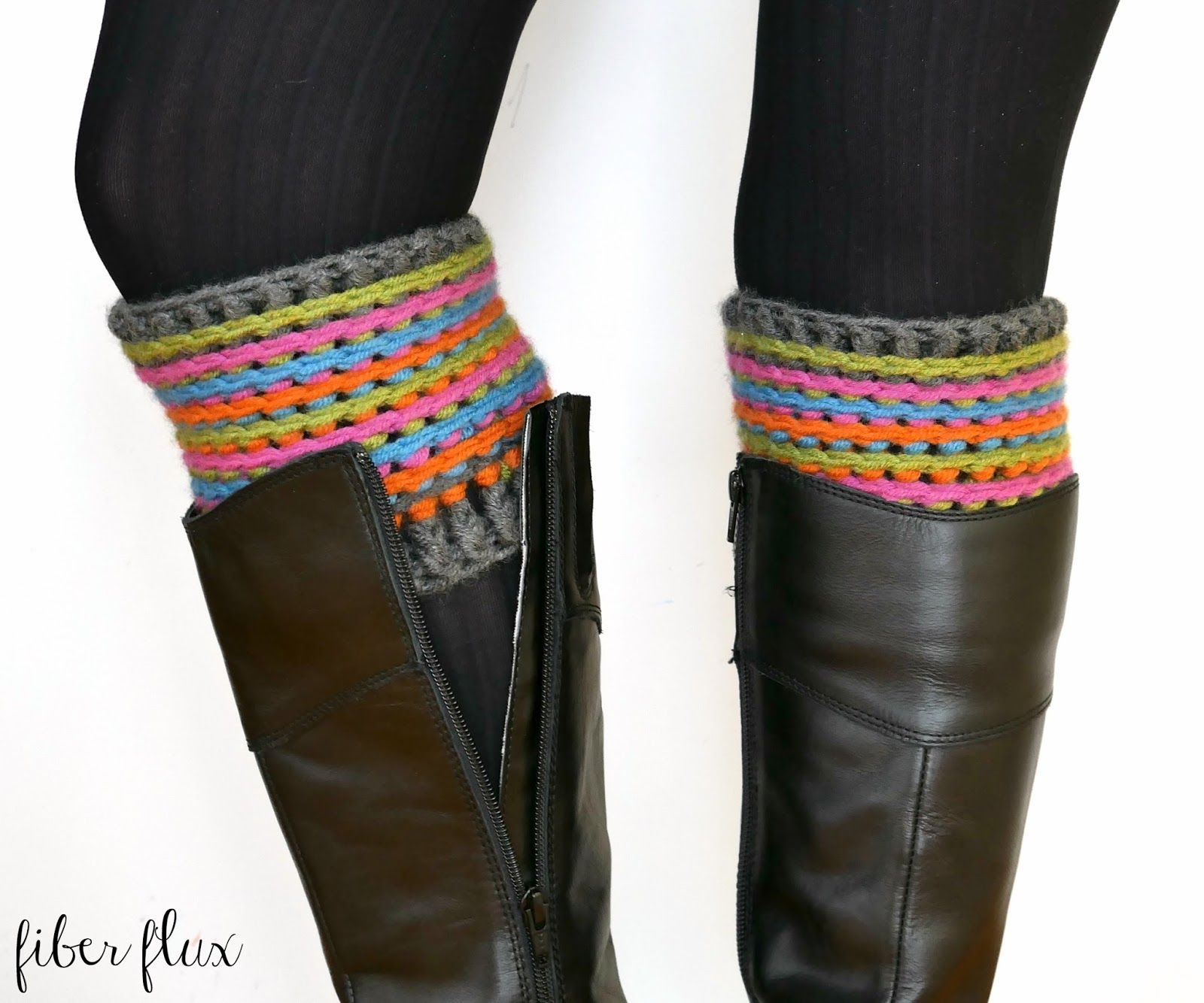 The Celebration Boot Cuffs are pretty, super cozy and full of texture! Slip these pretties on for a drab winter day to keep the ch...