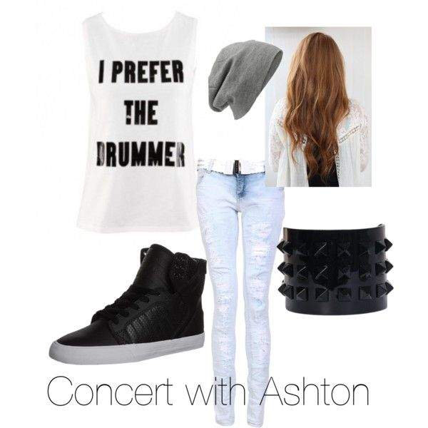 Concert with Ashton, created by unfperrie on Polyvore