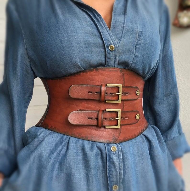 Leather corset belt,Wide leather belt women,Wide black belt women,Cincher belt,Underbust corset belt,Women waist belts