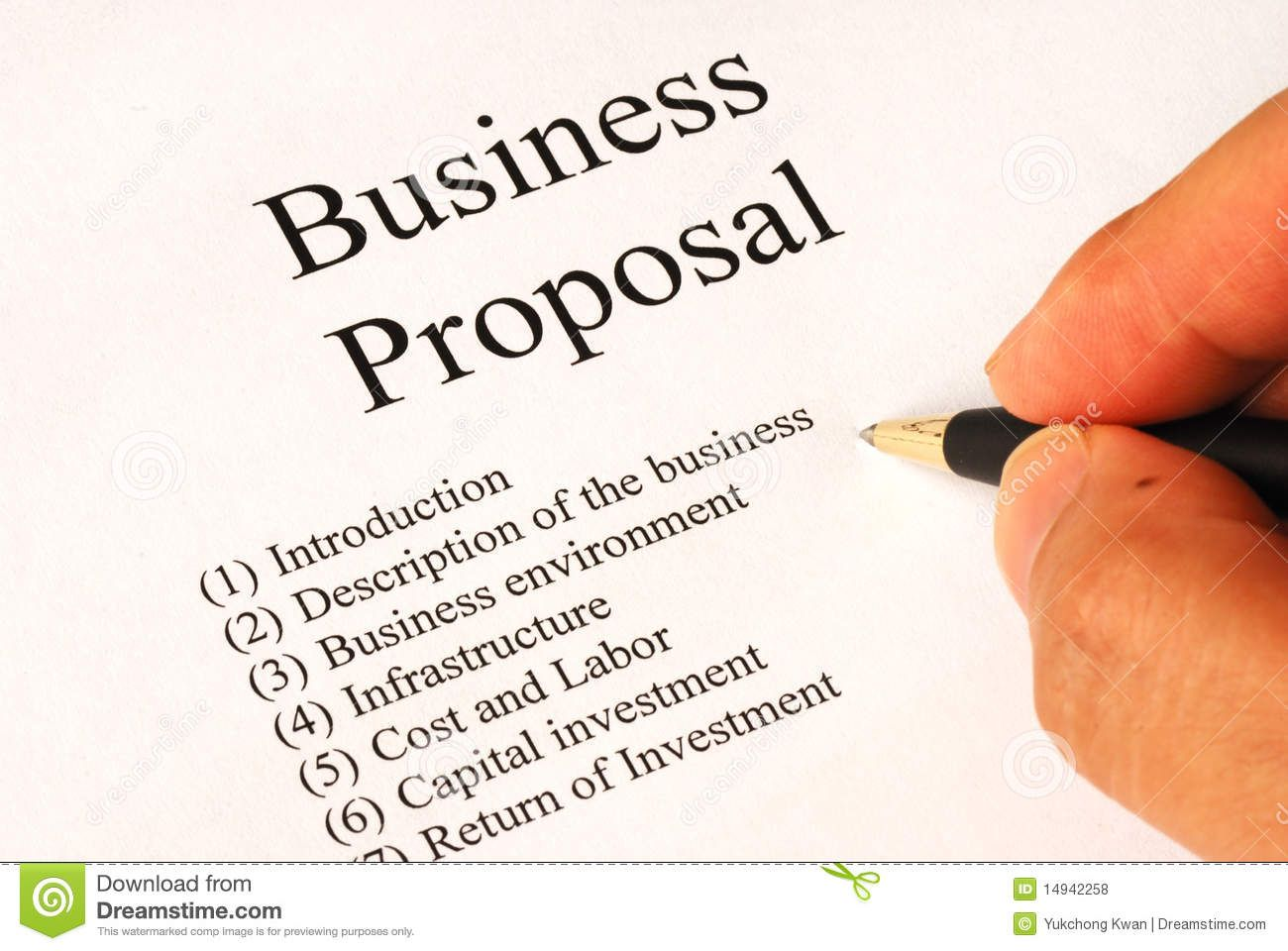Working On The Business Proposal Stock Photo Image Of Plan Discuss 149422 Writing A Business Proposal Business Proposal Examples Business Proposal Template