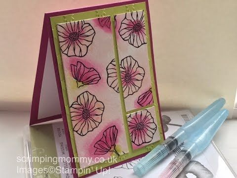 Oh so Eclectic water colour fun Stampin' Up! products