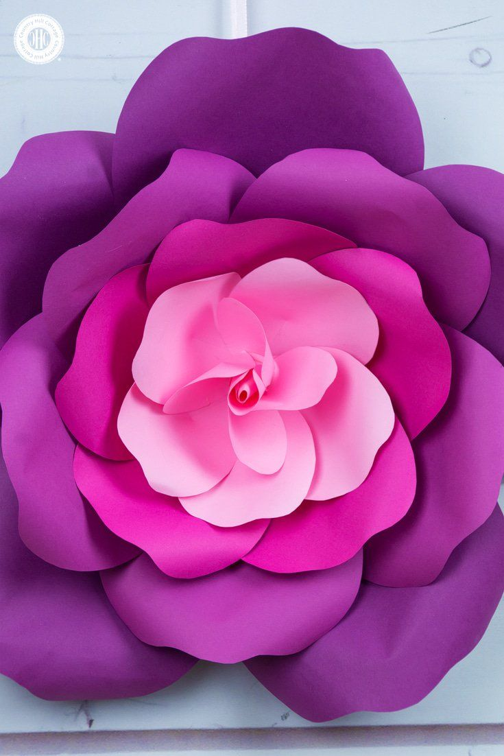 Learn to make Giant Paper Roses in  Easy Steps and get a free