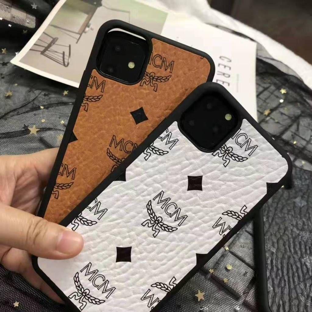 2020 的 MCM Style Leather Shockproof Designer iPhone Case