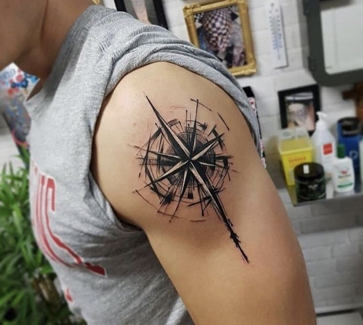 Compass Tattoo Compass Tattoo Compass Tattoo Tattoo Mens Shoulder Tattoo Tattoos For Guys Compass Tattoo