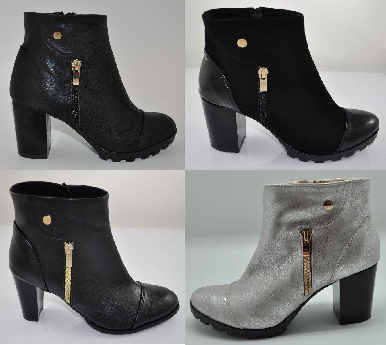 Polskie Botki Obcas Slupek 8 Cm 4 Kolory R 35 41 6558774832 Oficjalne Archiwum Allegro Boots Ankle Boot Shoes