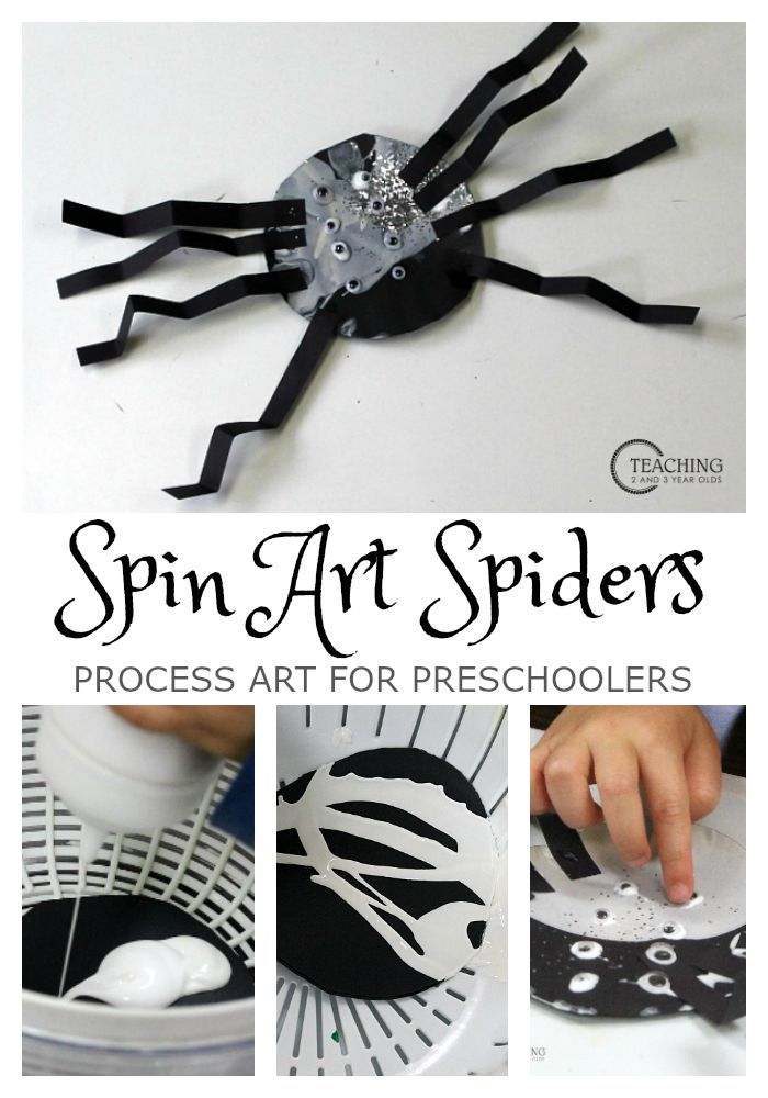 Fun and Easy Spin Art Spiders Fun halloween decorations, Spider - preschool halloween decorations