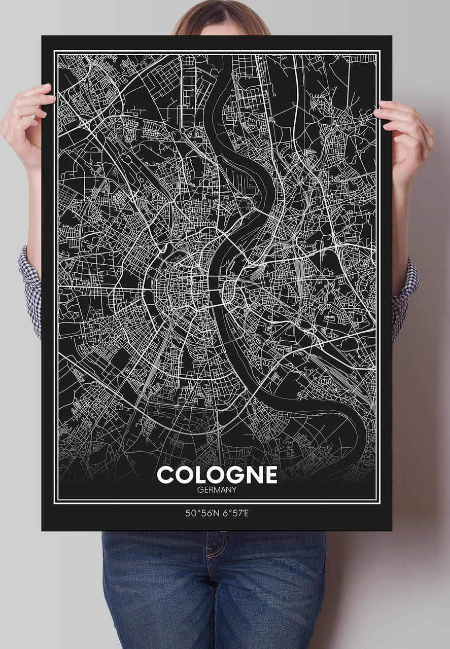 Pin by Hannah Grenzebach on My Flat   Map poster, Cologne germany ...