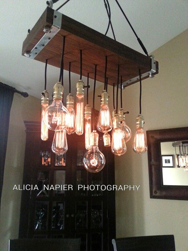 Edison Bulb Chandelier We Had A Great Time Making Our Very Own Pendant Chandelier With Awesome Filament Edison Bulb Chandelier Hanging Lights Light Fixtures