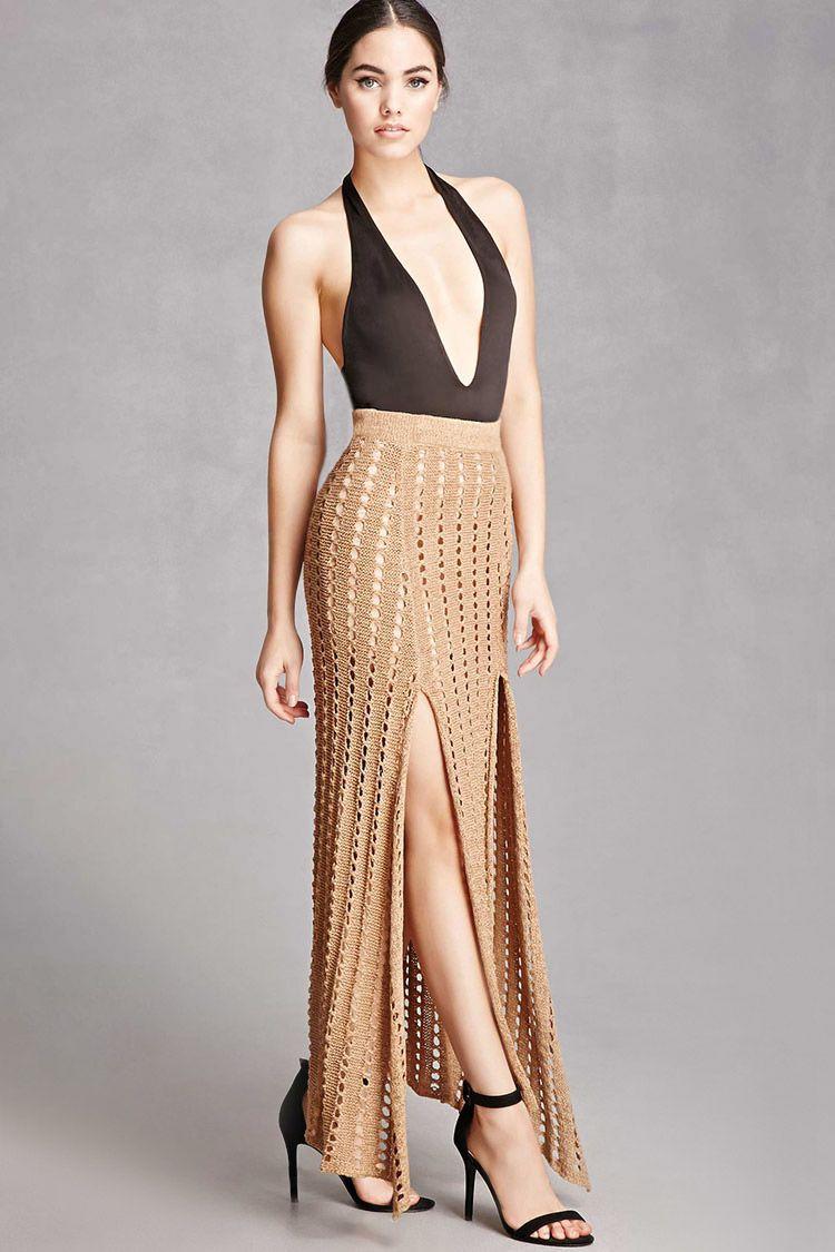 659b5f04ae9 Selfie Leslie Open-Knit Maxi Skirt