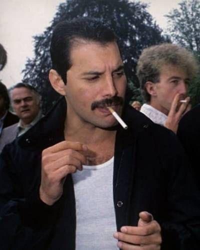 Freddie Mercury and John Deacon in Munich, 1984. CREDIT to readyfreddie on Tumblr.