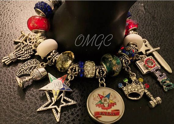 Order Of The Eastern Star Charm Bracelet Oes Masonic Sistar