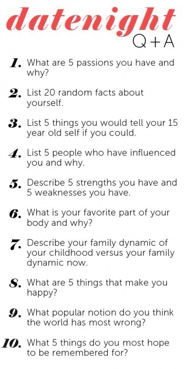 20 questions to ask a man