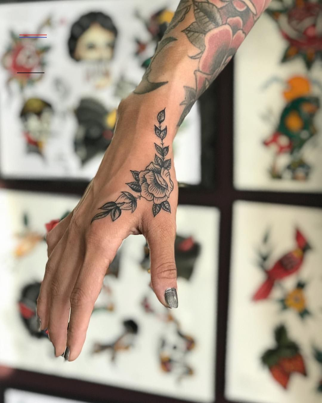 20 Hand Tattoo Ideas From Women Celebrities That Love Ink