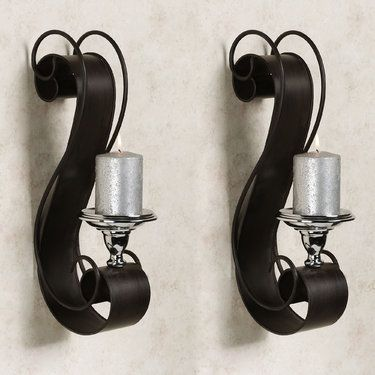 donovan scroll metal wall sconce pair love for the bedroom