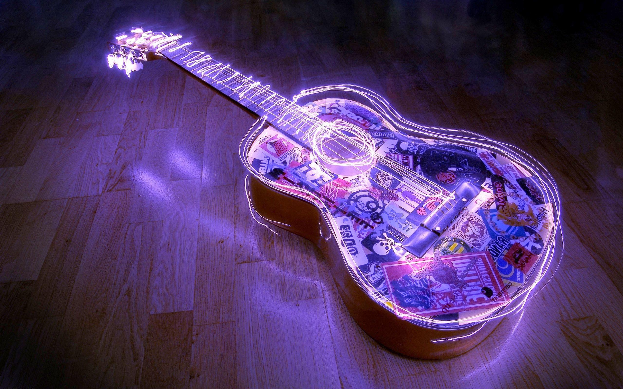 55 Colorful Guitar Wallpapers Download At Wallpaperbro Guitar Guitar Images Semi Acoustic Guitar