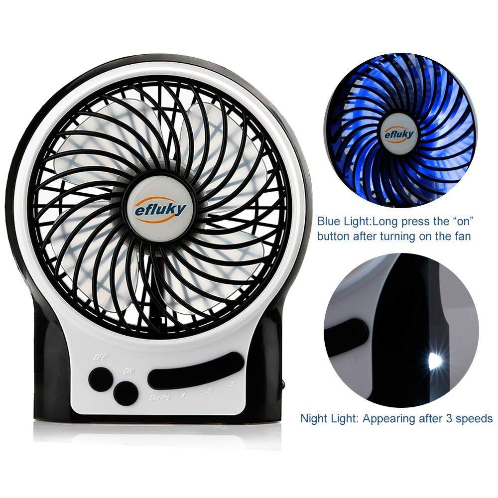 Efluky 3 Speed Mini Handheld Fan Mini Portable Fan Electric Usb